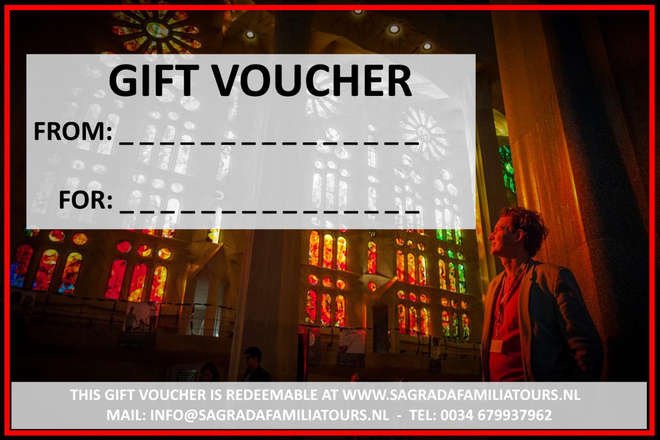 Buy athe Sagrada Familia gift voucher for a friend or family